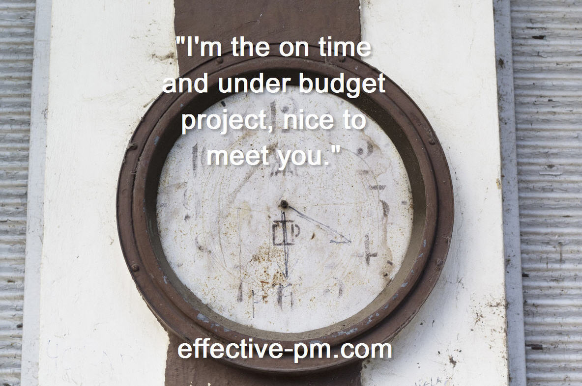 on time under budget
